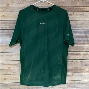Nike Dark Green Running Dri-Fit Shirt